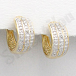 SETURI Pietre Semipretioase Set argint aurit si zircon alb