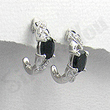 SETURI Pietre Semipretioase Set argint si safir negru