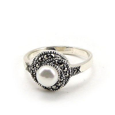 SETURI Argint si Marcasit Set bijuterii cu perlute