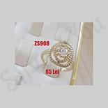 Inel subtire cu zirconii albe - ZS908