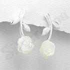 - Cercei argint cu trandafir - PF8014