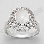 INELE - Inel argint oval cu sidef alb - PK2018
