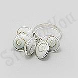 SETURI Pietre Semipretioase - Inel argint cu scoica shiva - BF3079