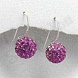 Cadouri Femei 1-8 Martie - Cercei argint cu cristale - PF5703