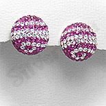 Cadouri Femei 1-8 Martie - Cercei argint cu cristale albe si roz - PF8039