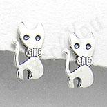 Bijuterii Copii - Cercei argint pisicuta mica - PK1189