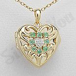 PANDANTIVE - Pandantiv argint aurit si smarald - PK3005