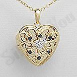 PANDANTIVE - Pandantiv argint aurit si safir - PK3008
