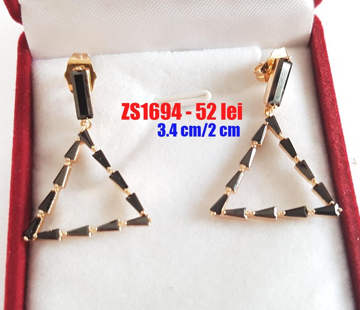 - Cercei in culoarea aurului - 3.4 cm - ZS1694