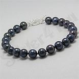 Bijuterii argint cu perle - Bratara argint cu perle negre - PK2004