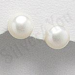 Cadouri Femei 1-8 Martie - Cercei argint cu perluta alba/1 cm - BF3072