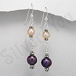 Bijuterii argint cu perle - Cercei argint cu perlute de apa dulce - PF8010