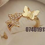Cadouri Femei 1-8 Martie - Inel cu doi fluturasi si zirconii albe - ZS500