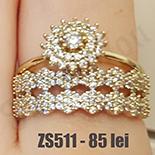 Set 2 inele aurite cu aur de 14K - ZS511