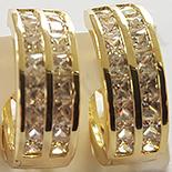 Bijuterii in Culoarea Aur 14K - Cercei cu zirconii albe - ZS814