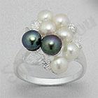 Bijuterii argint cu perle - Inel argint cu perlute - PF8008