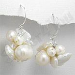 Bijuterii argint cu perle - Cercei argint cu perle albe - PK1824