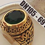 Ghiul din inox in culoarea aurului cu zircon negru - DN105