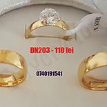 Set inox 2 verighete si inel logodna - DN103A