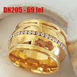 INELE - Inel inox aurit cu zirconii albe - DN205