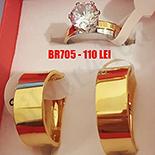 - Set inox 2 verighete si inel logodna - BR705