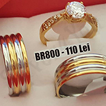 - Set inox 2 verighete si inel logodna - BR800