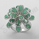Cadouri Femei 1-8 Martie - Inel argint cu smarald - PF4098