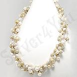 Bijuterii HANDMADE - Colier fashion cu perle albe - PK1394