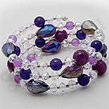 Bijuterii HANDMADE - Bratara din jad, ametist si cristale - PK2244
