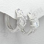 - Cercei argint zirconi albe rotunzi mici - PK1848