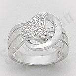 - Inel argint zircon alb aspect aur alb - PK1301