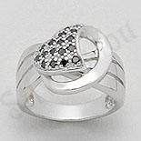 - Inel argint zircon negru aspect aur alb - PK1302
