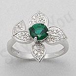 INELE - Inel argint cu zircon verde tip aur alb - PK1299