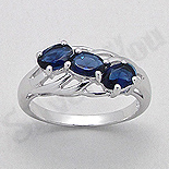 - Inel argint logodna zirconii albastre aspect aur alb - PK2029
