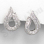 - Cercei argint zircon alb aspect aur alb lacrima - PK1875
