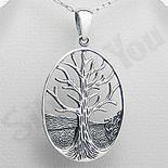 - Pandantiv argint oval copacul vietii - PK1977