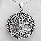 PANDANTIVE - Pandantiv argint rotund copacul vietii - PK2526