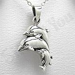 - Pandantiv argint familie delfini - PK1335