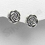 SETURI Argint Simplu - Cercei argint trandafir 1.1 cm - PF4238
