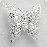 PANDANTIVE - Pandantiv argint fluture mare - PK1340