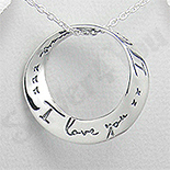 "PANDANTIVE - Pandantiv argint ""I love you"" - PK1417"