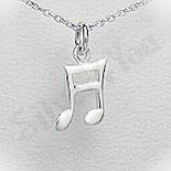 Bijuterii Copii - Pandantiv argint nota muzicala - PF5534