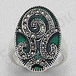 Bijuterii argint cu marcasit - Inel argint marcasit model verde - PK1289