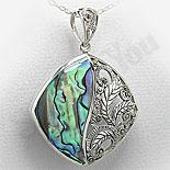 Bijuterii argint cu marcasit - Pandantiv argint abalone si marcasit - PK2212