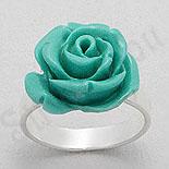 Cadouri Femei 1-8 Martie - Inel argint trandafir turcoaz - PK1287
