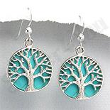 - Cercei argint copacul vietii turcuaz bleu - PK1906