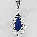 Martisoare Argint - Pandantiv argint cu marcasit si lapis albastru - AS218