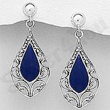 Cadouri Femei 1-8 Martie - Cercei argint cu lapis albastru - AS221