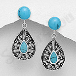 Cercei argint cu piatra turcoaz albastru - AS216