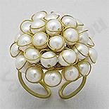 Bijuterii HANDMADE - NOU! - Inel din alama cu perle - PK1486